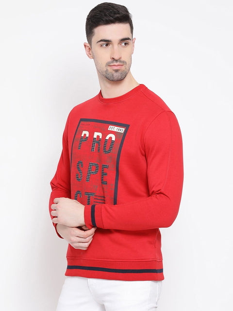 Red Sweatshirt left view