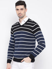 Black & White Stripped Sweater side view