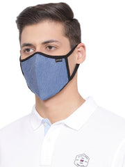 Richlook Sky Blue Oval Shape Denim Mask