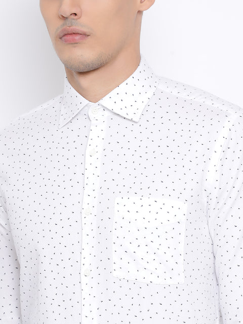 White Slim Fit Clubwear Shirt