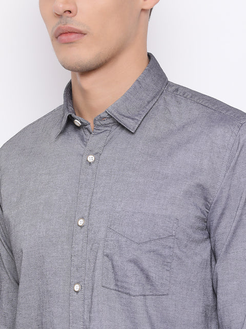 Smoke Slim Fit Casual Shirt