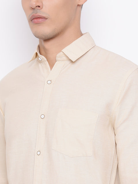Fawn Slim Fit Casual Shirt
