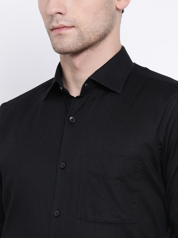Black Formal Shirt close view