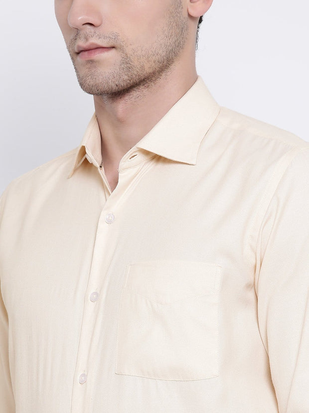 Cream Formal Shirt close view