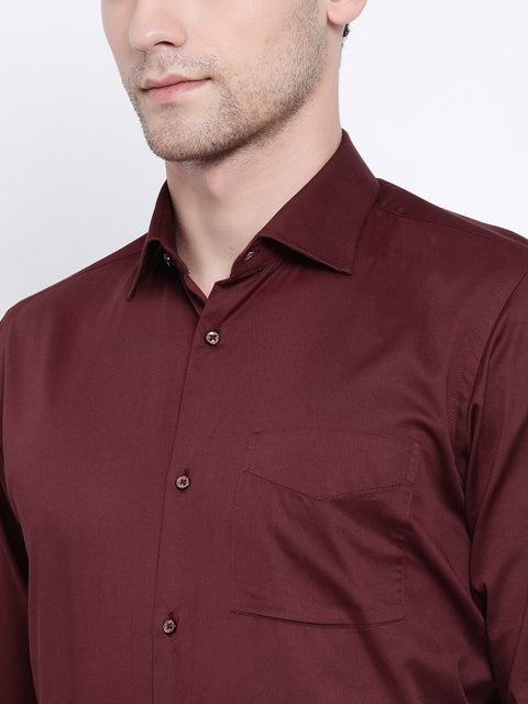 Maroon Regular Fit Club Wear Shirt close view