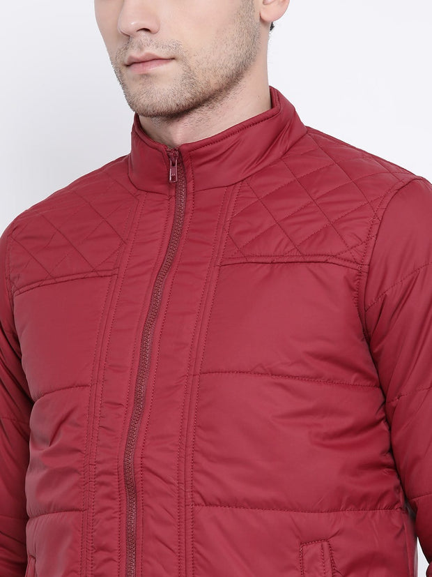 Maroon Casual Jacket close view