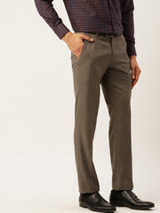 Beige Formal Smart Fit Trouser