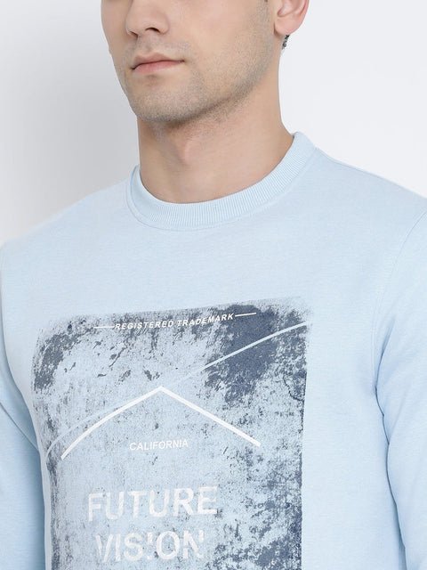 Sky Round Neck Sweatshirt close view