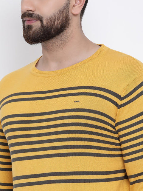 Yellow Round Neck Sweater