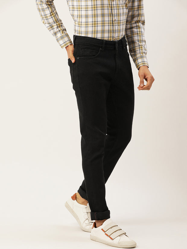 Black Casual Classic Fit Jeans