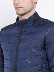 Navy Blue Casual Jacket close view
