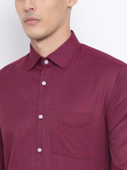 Maroon Formal Regular Fit Shirt