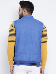 Blue & Black Reversible Sleeveless Jacket