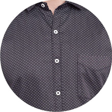 Load image into Gallery viewer, Richlook Black Color Printed Casual Shirt