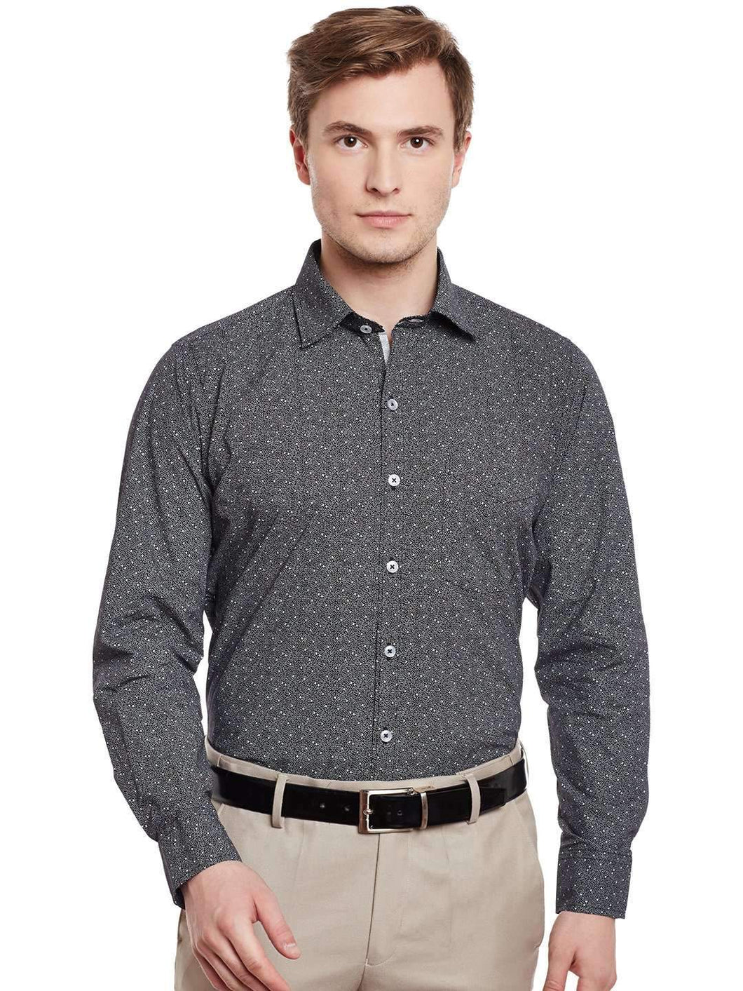 Richlook Black/White Formal Shirt