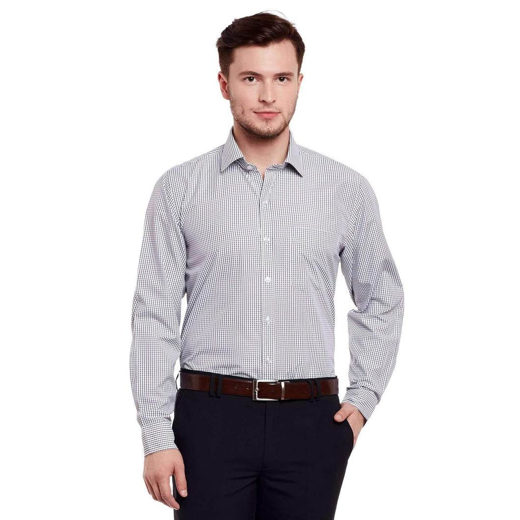 Richlook White/Black Formal Shirt