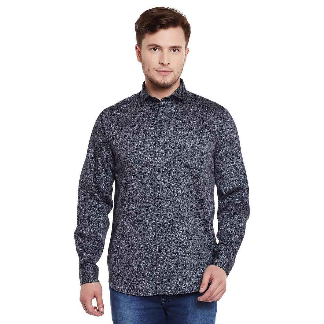 Richlook Blue Color Casual Shirt