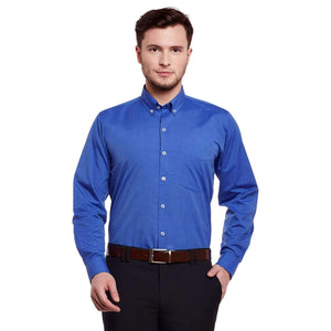 Richlook Electric Blue Color Formal Shirt