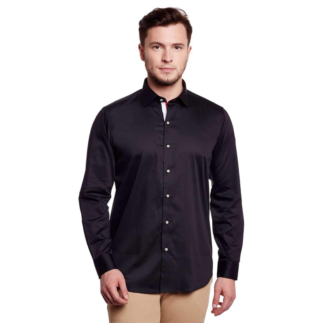 Richlook Black Color Club Wear Shirt