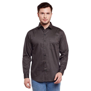 Richlook Printed Brown Color Casual Shirt
