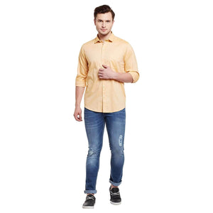 Richlook Orange Color Formal Shirt