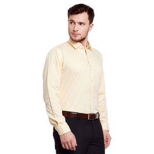 Richlook Yellow Color Formal Shirt