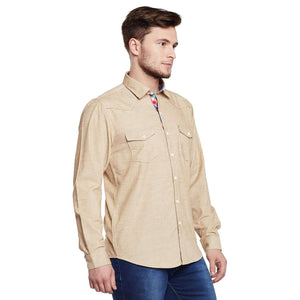 Richlook Cream Casual Shirt