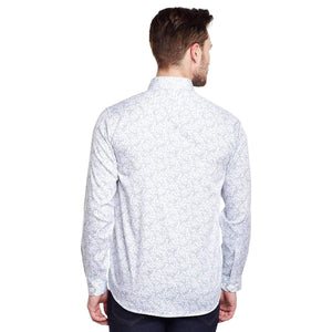 Richlook Printed White Casual Shirt