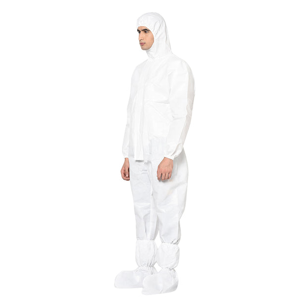 RLCARE Disposable White Coverall - PPE