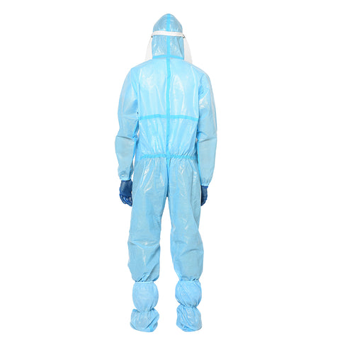 RLCARE Disposable Blue Coverall with Seam Tape With Goggles- PPE