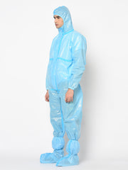 RLCARE Disposable Blue Coverall with Seam Tape - PPE