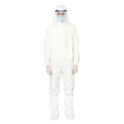 RLCARE Reusable White Coverall with Facesheild - PPE