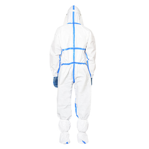 RLCARE Disposable White Coverall with Seam Tape With Goggles- PPE