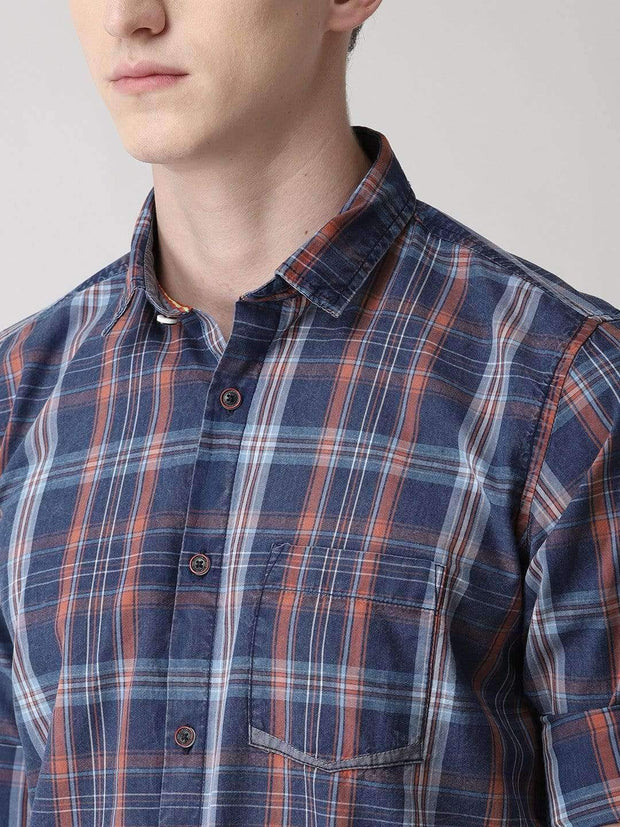 Blue & Red Casual Shirt close view