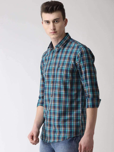 Blue & Green Casual Shirt Side View