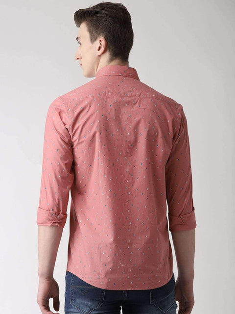 Dark Pink Casual Shirt back view