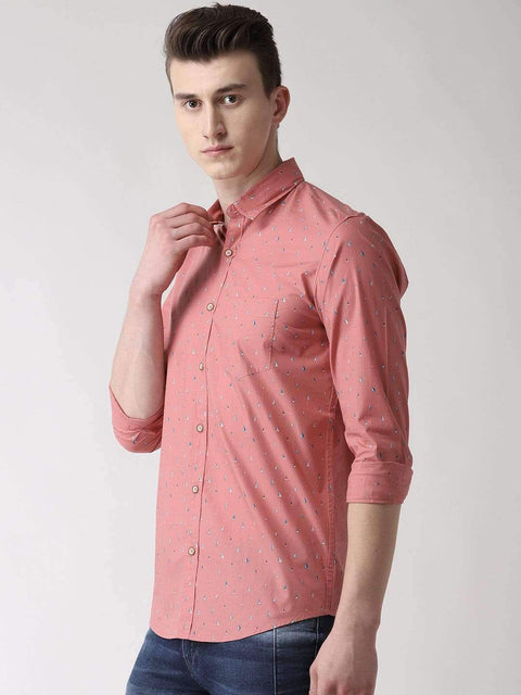 Dark Pink Casual Shirt side view