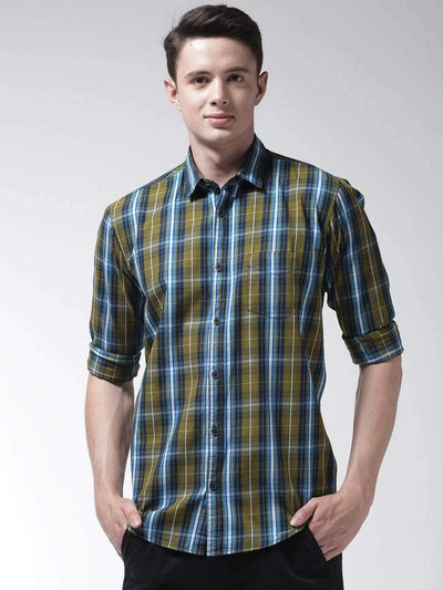 Green Casual Slim Fit Shirt