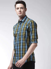 Green Casual Slim Fit Shirt side view
