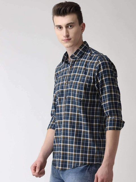 Navy Blue Casual Shirt side view
