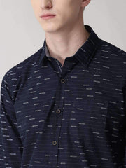 Navy Blue Casual Shirt close view