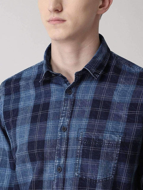 Navy Blue Casual Shirt for Men