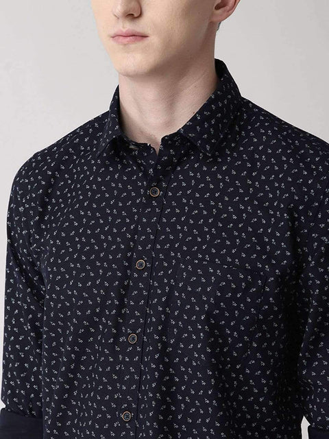 Navy Blue color Casual Shirt