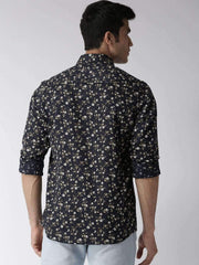 Black Casual Shirt back view