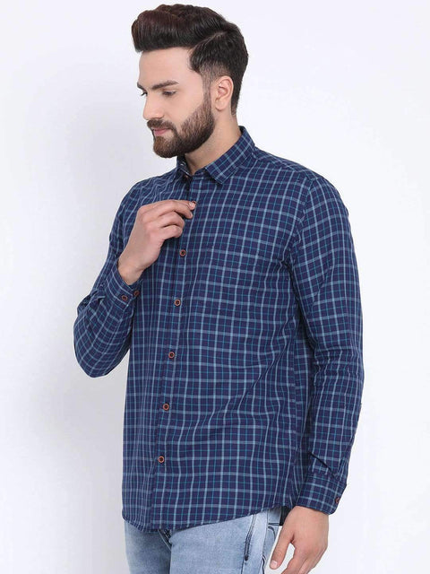 Blue & Tapesty Blue Casual shirt side view