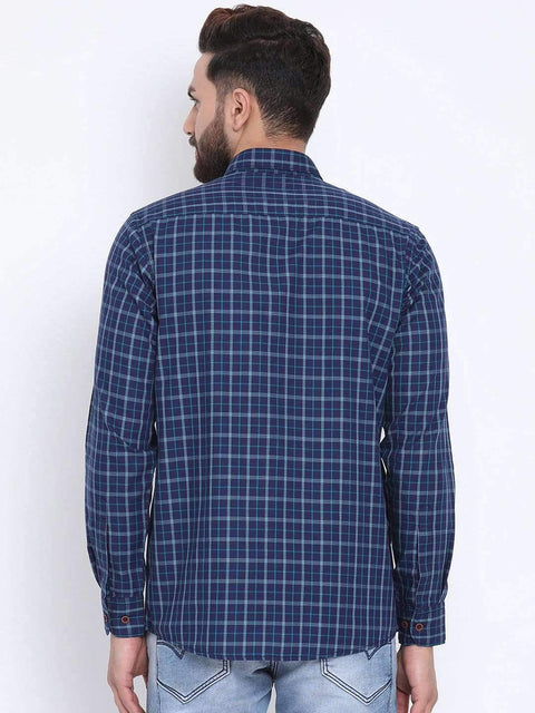 Blue & Tapesty Blue Casual shirt back view