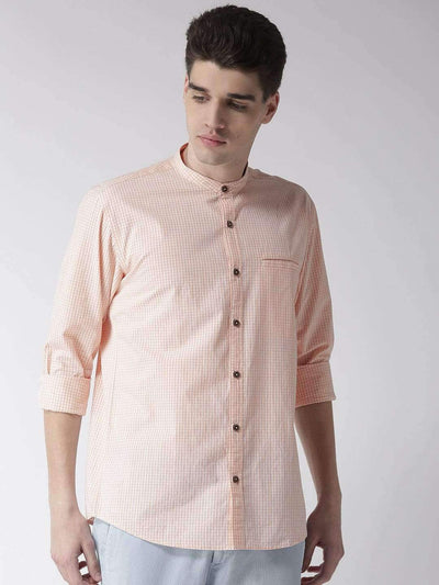 Cream & Rust Casual Shirt