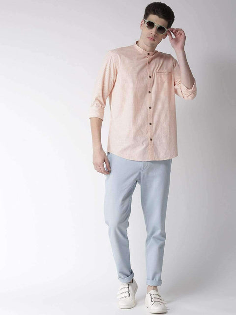 Cream & Rust Casual Shirt full view