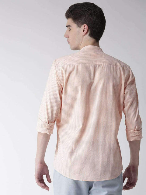 Cream & Rust Casual Shirt back view