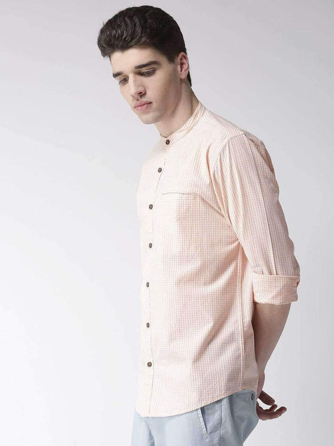 Cream & Rust Casual Shirt side view